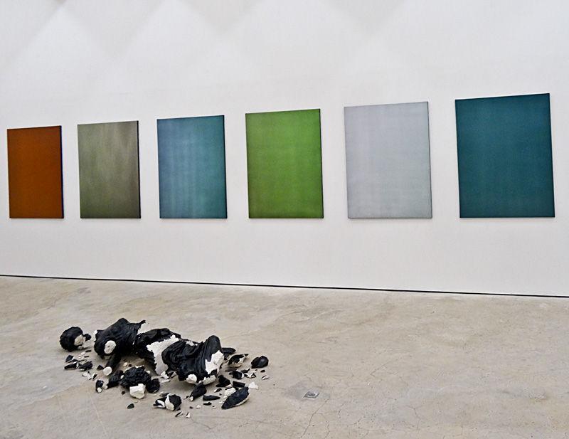 Timothée Talard, Monochromes, 2014. Galerie Gourvennec Ogor à Marseille