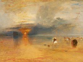 TURNER William (1775 - 1851) Plage de Calais à marée basse, « poissards » ramassant des appâts, exposé à la Royal Academy, 1830 - Huile sur toile - 68,8 x 103,8 cm - Bury Art Museum, Greater Manchester © Bury Art Museum, Greater Manchester UK
