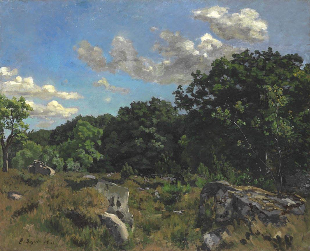 Frédéric Bazille, Paysage à Chailly, 1865. Huile sur toile. 81 x 100,3 cm. Chicago, The Art Institute of Chicago, Charles H. and Mary F. S. Worcester Collection (1973.64). Photo The Art Institute of Chicago