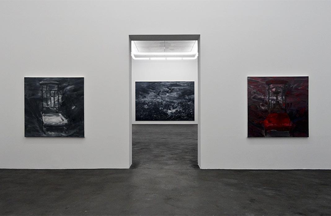 Yan Pei-Ming - Ruines du temps réel au CRAC - Sète - Prie-Dieu Noir, 2014 - Prie-Dieu II, 2014