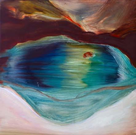 Marie Zawieja. A quoi tient la beauté des montagnes, 20 x 20 cm, huile sur bois, 2016.