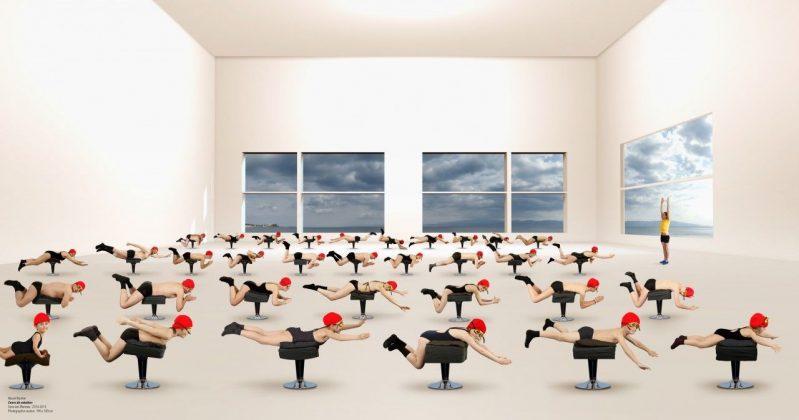Muriel Bordier, Cours de natation, serie «Les Thermes» © Muriel Bordier
