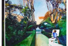 Abel Pradalié, To paint.., huile sur toile, 160 x 190 cm, 2017